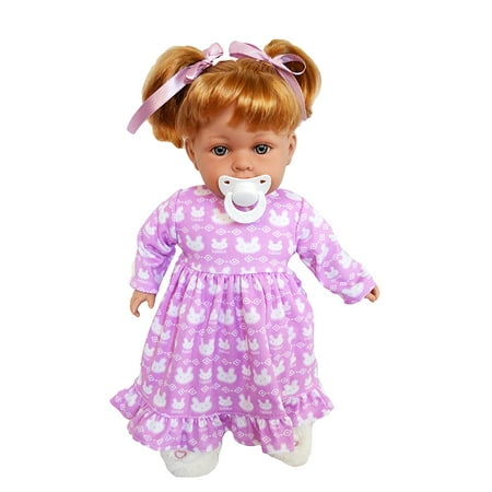 My Brittany's Lavender Bunny Nightgown Compatible with Bitty Baby Dolls Sheer Baby Doll Nightie