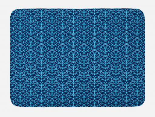 damask bath mat floral ornament various geometrical. Black Bedroom Furniture Sets. Home Design Ideas