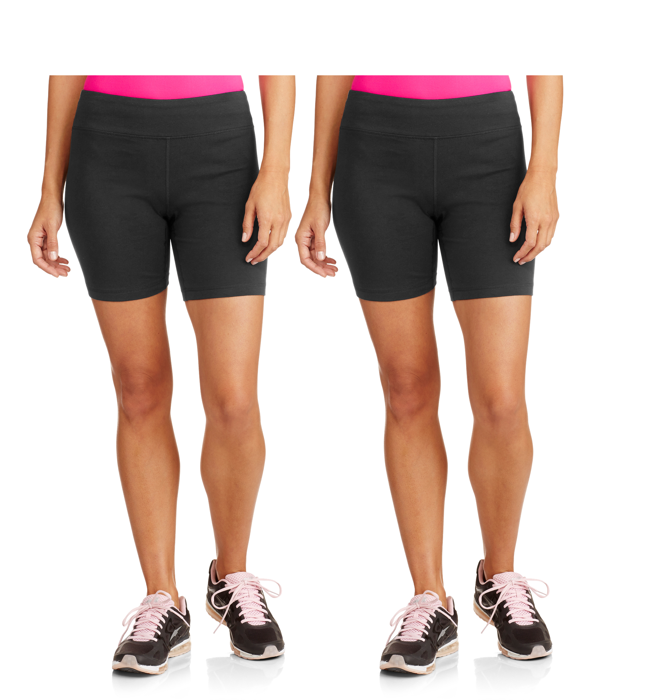 Danskin Now Women's Dri-More Core Bike Shorts, 2-Pack by
