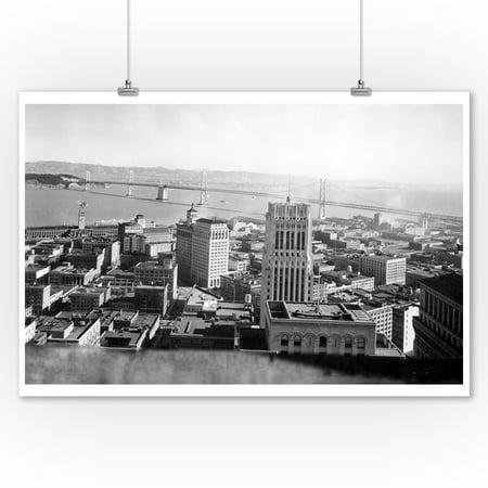 San Francisco, CA Oakland Bay Bridge from Russ Bldg. Photograph (9x12 Art Print, Wall Decor Travel