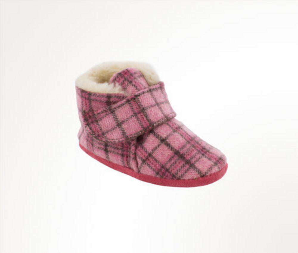 Minnetonka Infant's Flannel Sawyer Bootie Pink Plaid by MINNETONKA