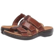 Clarks Womens Leisa Spring Leather Open Toe Casual Sport Sandals