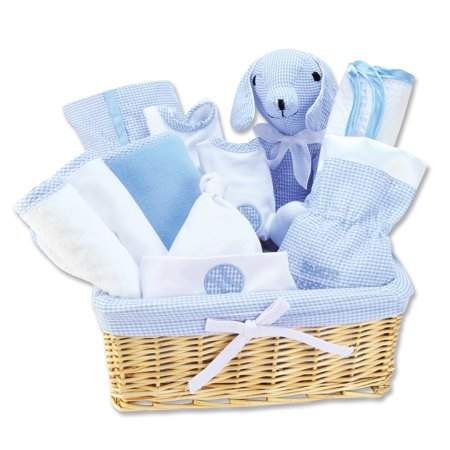 12 Piece Blue Deluxe Basket Gift Set