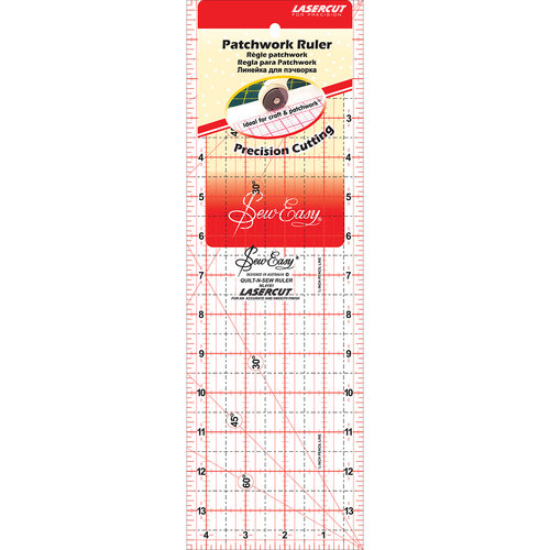 """SewEasy Patchwork Quilt Ruler, 14"""" x 4.5"""""""