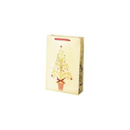 True Fabrications 864 2-Bottle Golden Tree Wine Bag - Pack of 10