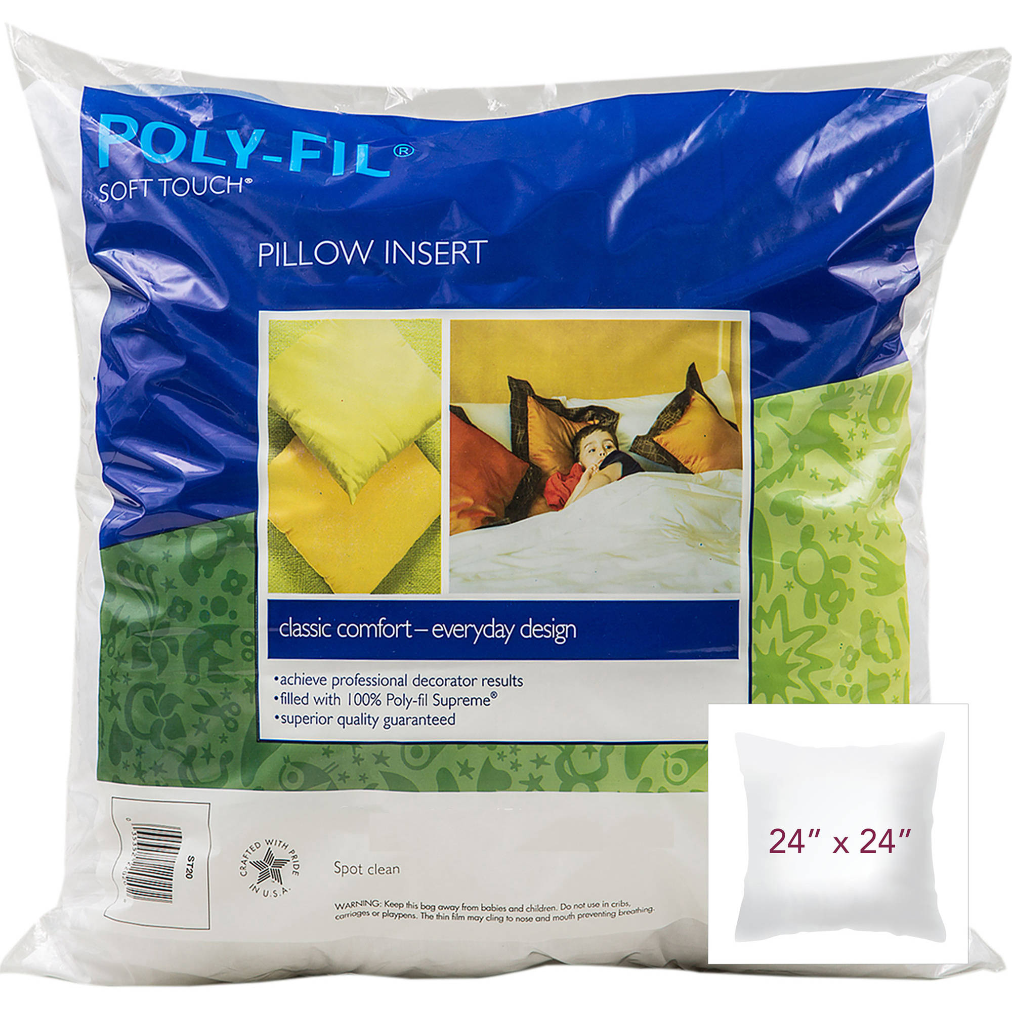 "Soft Touch Down-like Pillowform 24"" x 24"""