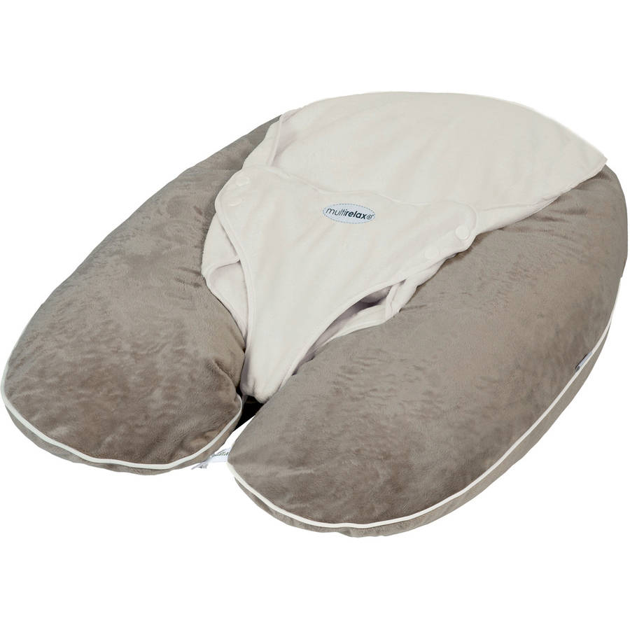 CANDIDE Multirelax+ 3-in-1 Maternity Pillow and Infant Seat - Soft Boa Material, Hazel/Ivory