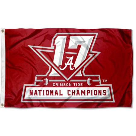 University of Alabama Crimson Tide 2017 and 17-Time Football National Champions Flag