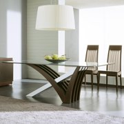 Rossetto Mirage Wenge Clear Glass Table