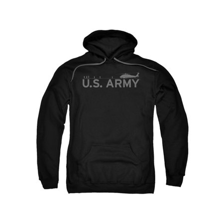 Army U.S. Helicopter & Soldiers Horizon Shadow Adult Pull-Over (Soldier Adult Sweatshirt)