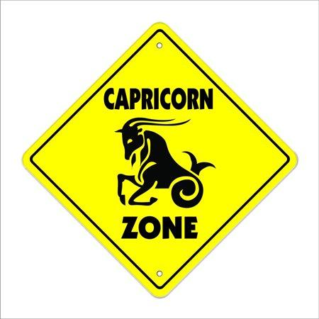 Capricorn Crossing Sign Zone Xing | Indoor/Outdoor | 14