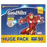 GoodNites Bedtime Bedwetting Underwear for Boys, Size S/M, 50 Count