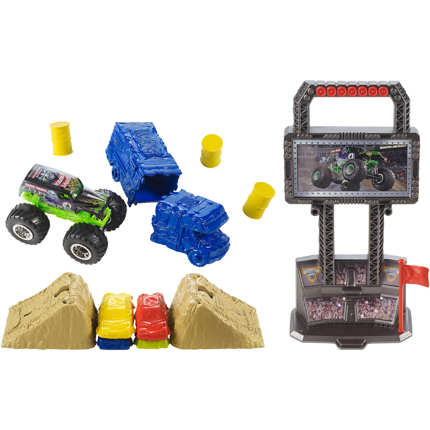 Hot Wheels Monster Jam Crash And Carry Arena Playset