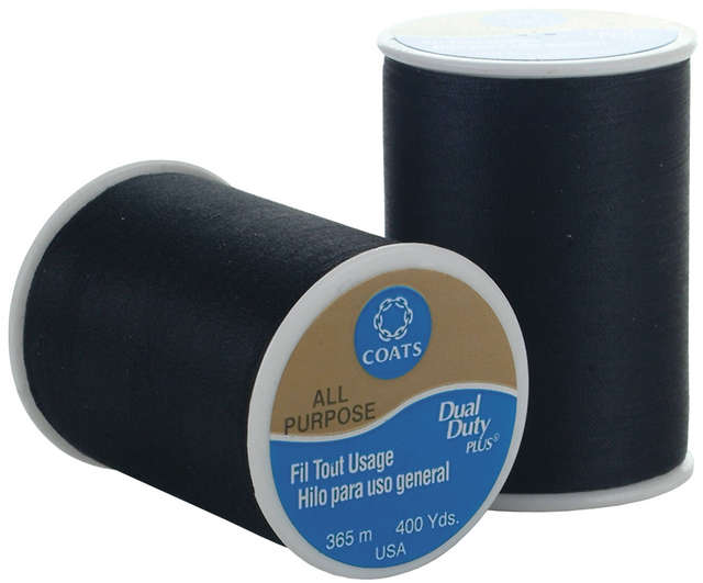 Dual Duty Plus All Purpose Thread 400 Yards Black 230A 2