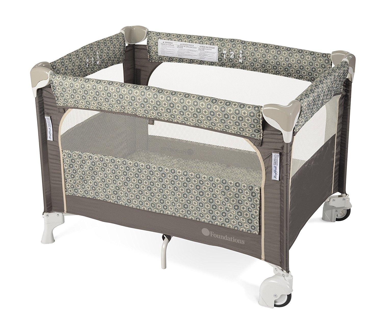 SleepFresh Elite Portable Crib, Sahara, 0-36 Months by SleepFresh
