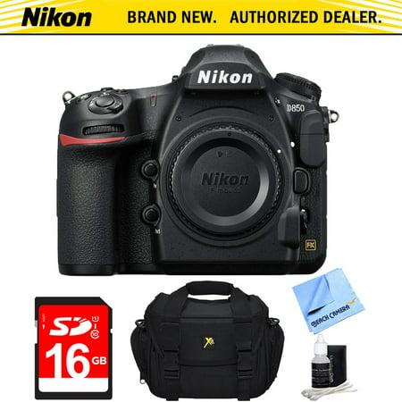 Nikon D850 45.7MP Full-Frame FX-Format Digital SLR Camera (Body Only) + 16GB Bundle