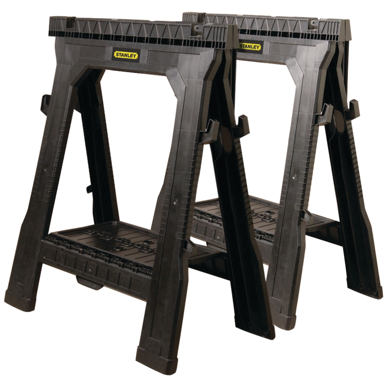 Stanley 060864R Plastic Folding Sawhorse (2-Pack)