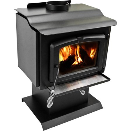 Pleasant Hearth 1,200 sq ft Pedestal Wood Burning Stove with Blower, Small,  HWS-224172MH - Walmart.com - Pleasant Hearth 1,200 Sq Ft Pedestal Wood Burning Stove With