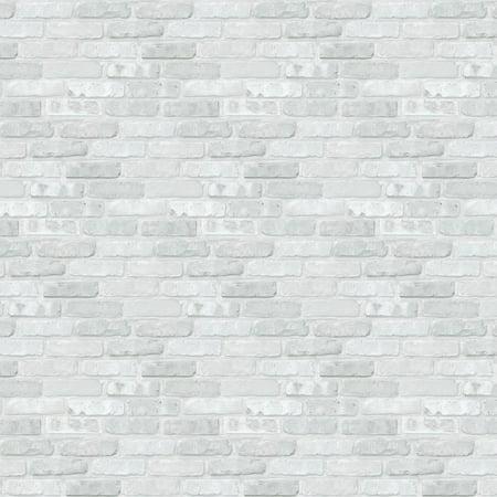 White Brick Fadeless Designs Art Paper Rolls - Fadeless Paper