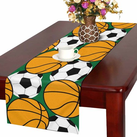 MKHERT Sport Basketball Table Runner, Football Soccer Table Cloth Runner for Wedding Party Banquet Decoration 14x72 inch](Soccer Banquet Ideas)
