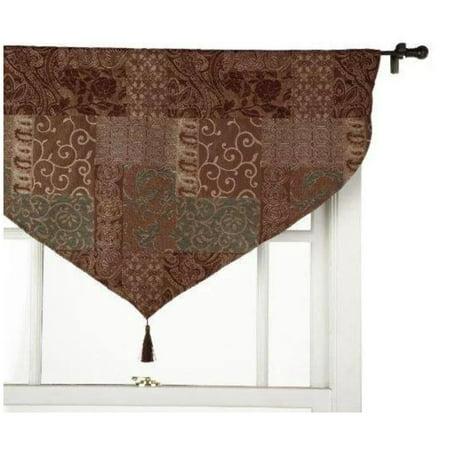Croscill Galleria Ascot Window Valance in Chocolate