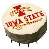 NCAA - Mr. Bar-B-Q - Round Patio Table Cover - Iowa State Cyclones