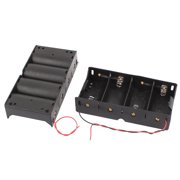 2 Pcs Spring Loaded Series Connection 4 x C 1.5V Battery Holder Case Storage Box