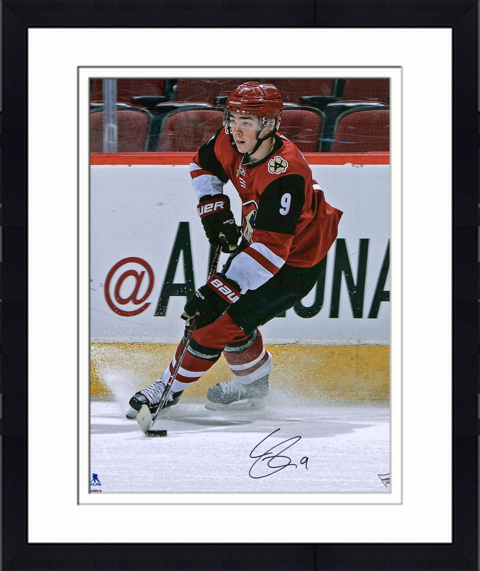 """Framed Clayton Keller Arizona Coyotes Autographed 16"""" x 20"""" Red Jersey Skating Photograph Fanatics Authentic... by Fanatics Authentic"""