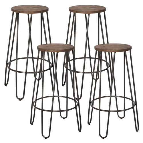 !nspire Revo 26 in. Backless Stackable Counter Stool - Set of 4