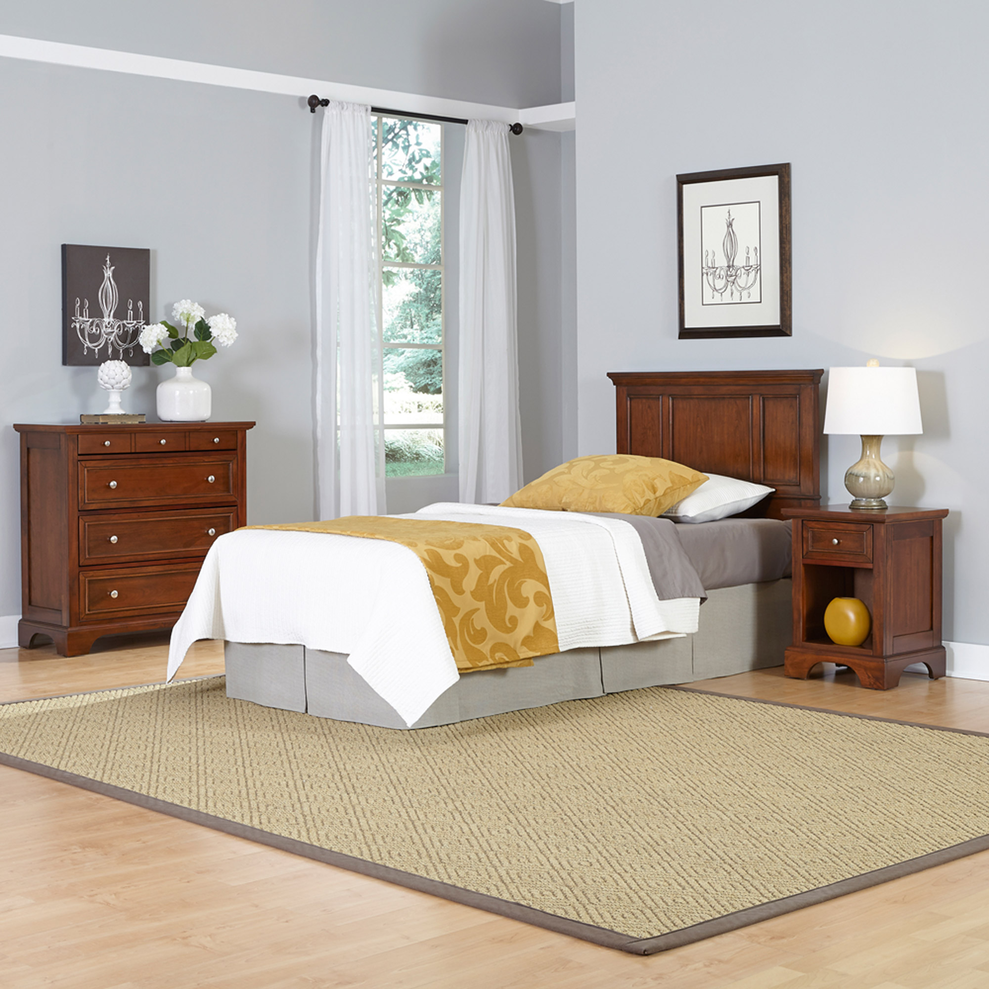 Home Styles Chesapeake Twin Headboard, Night Stand and Chest