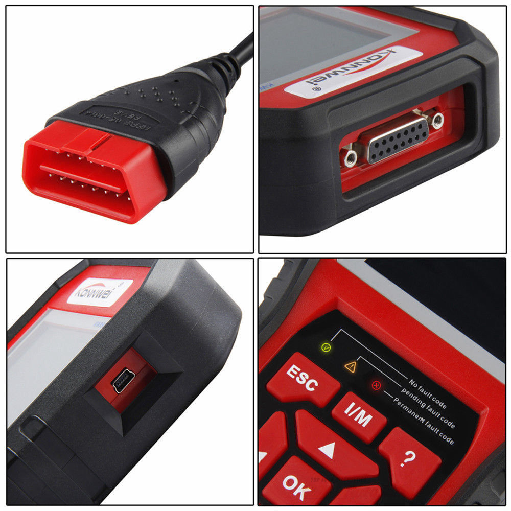 KW850 OBD2 OBD Car Diagnostic Scanner Automotive Erase Engine Fault Codes  Reader