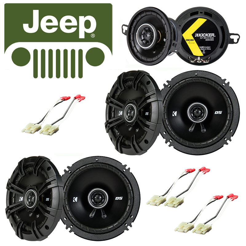 Fits Jeep Grand Cherokee 1993-1995 Speaker Replacement Kicker DS Series Package by Kicker