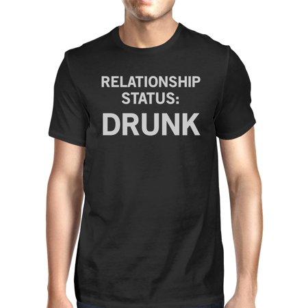 Relationship Status Men's Black Casual Graphic T-Shirt Funny