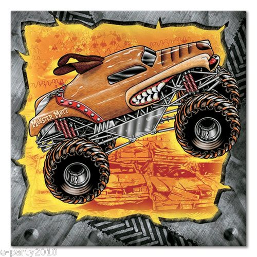 Monster Jam Small Napkins (16ct)