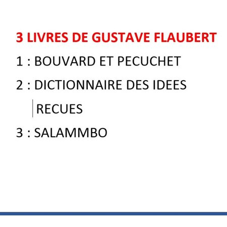 3 ebooks de Gustave Flaubert - eBook