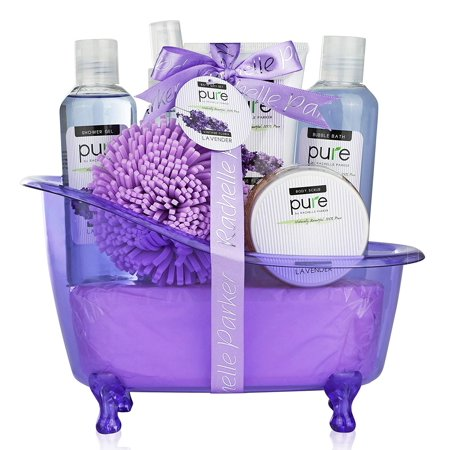 Lavender Essential Oils Aromatherapy Bath Body Spa Gift Basket Makes Best