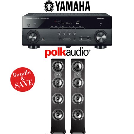 YAMAHA RX-A670BL RECEIVER + POLK AUDIO TSI 500 SPEAKERS