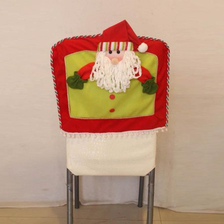 Non Woven Christmas Decorations Snowflake Chair Covers