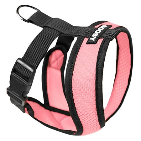 gooby - comfort x head-in harness, choke free small dog harness with micro suede trimming and patented x frame, pink, (Best Gooby Harness For Dogs)