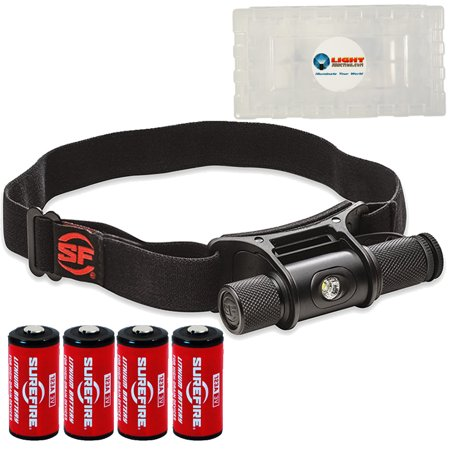 Surefire HS2-MV Minimus Headlamp Flashlight PLUS 4 extra SureFire CR123 batteries and 1 Lightjunction battery box