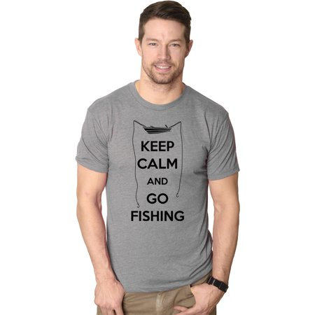 Mens Keep Calm And Go Fiishing T shirt Funny Fisherman Gift  Cool Present](Halloween Memes Know Your Meme)