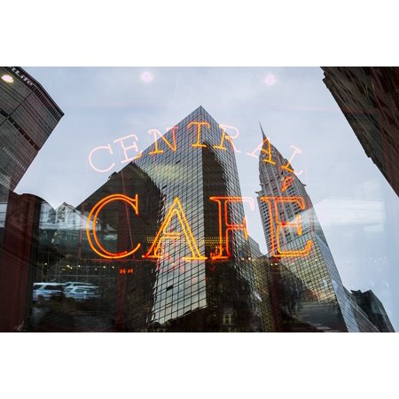Canvas Print Architecture City Neon Sign Light Buildings Caf?? Stretched Canvas 10 x (Best Lens For Architecture Nikon)
