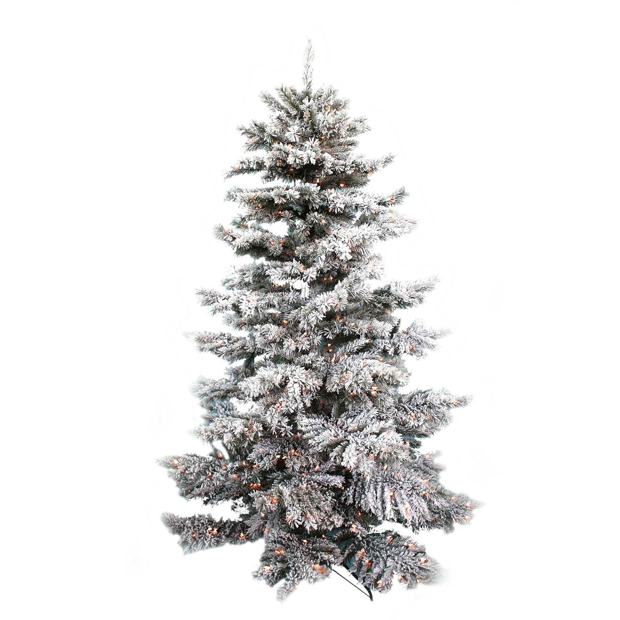 7.5ft Flocked Tree - Walmart.com