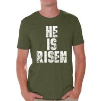 a4f2bc6593c6d Product Image Awkward Styles He Is Risen Shirt for Men Christian Shirts for  Men Happy Easter Gifts for