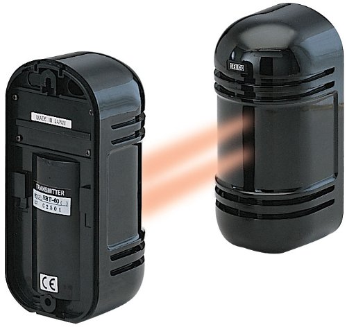 Cop Security 15-946 Indoor/Outdoor Photoelectric Dual Beam Sensor Up to 550ft(indoor)/180ft(outdoor) (Black)