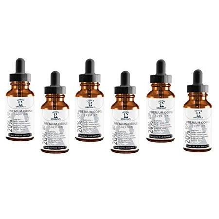 Lugols Solution 20% USP prime iode minéral Supplément conchyliculture 4 oz 6 Pack