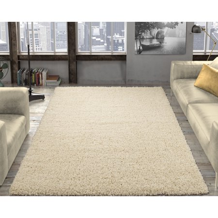 Ottomanson Solid Contemporary Living And Bedroom Soft Shaggy