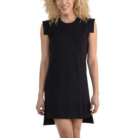 (Women's Pleated Ponte Dress, Available in sizes up to 2XL)