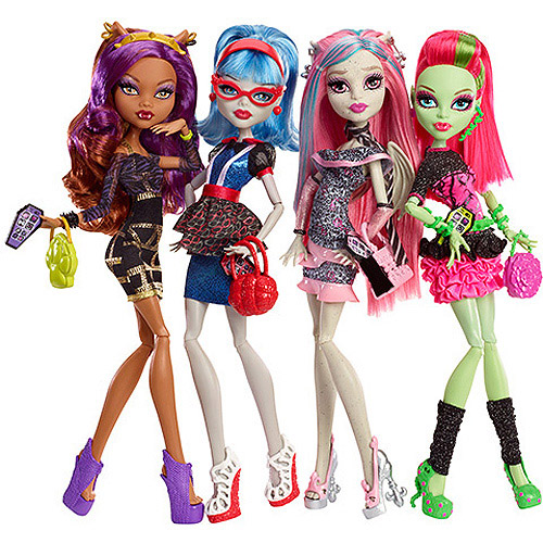 Monster High Ghouls' Night Out Dolls, 4-Pack