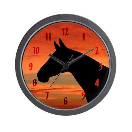 """CafePress - Horse Sunset Portrait - Unique Decorative 10"""" Wall Clock"""